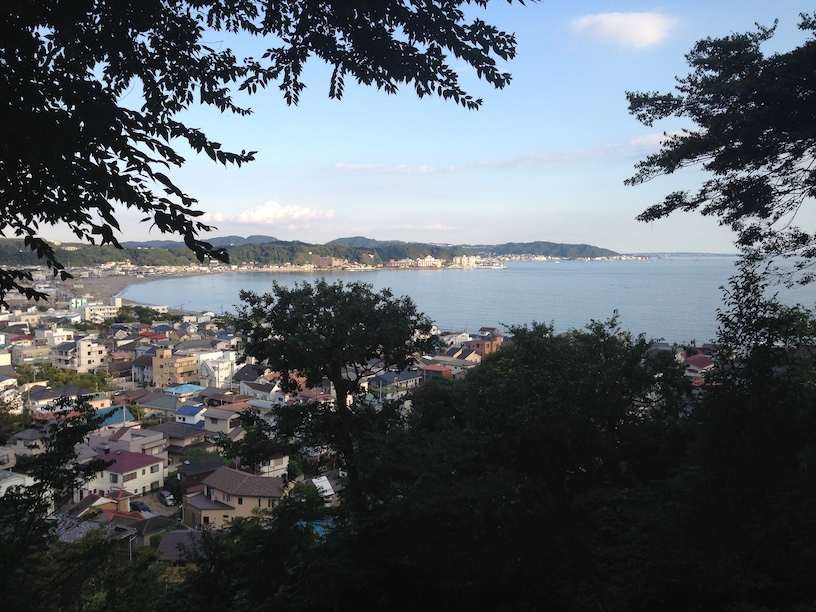 The view of Kamakura's bay from the top of the Hase temple